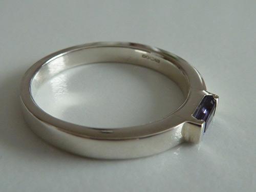 Hebridean Jewellery Iolite Silver Ring