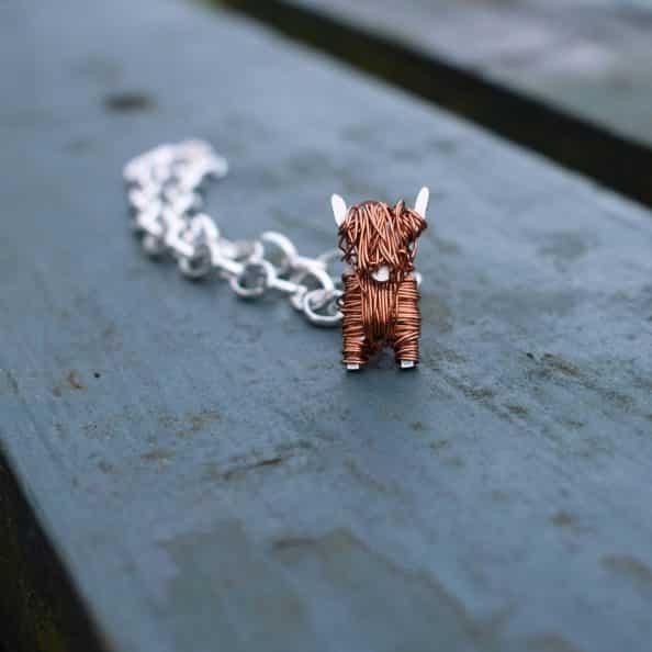 Highland cow gifts bracelet