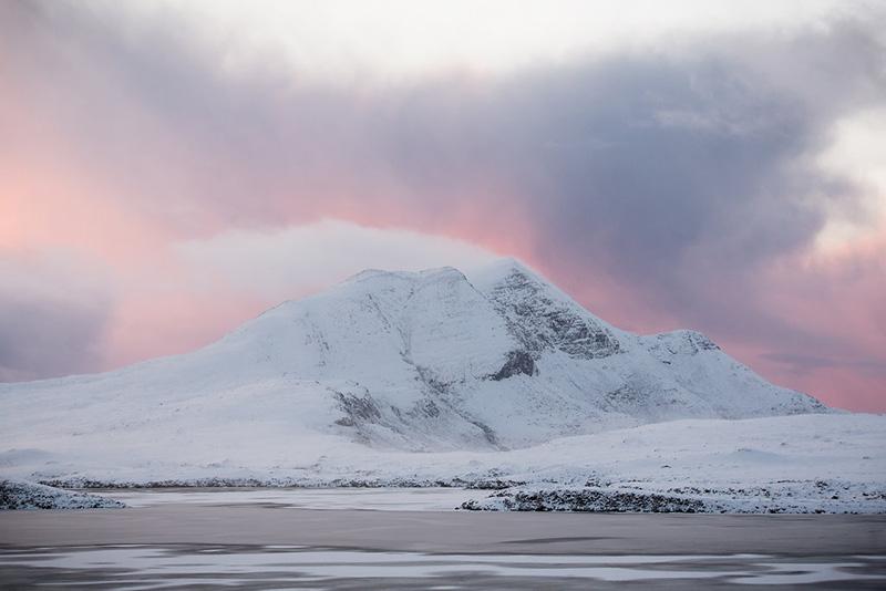 Northwest Highlands Geopark in the snow