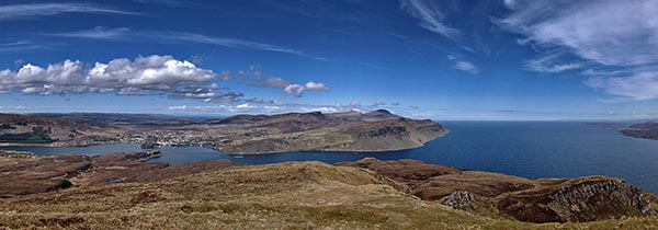 things to do on the Isle of Skye - View to Portree Bay from Ben Tianavaig