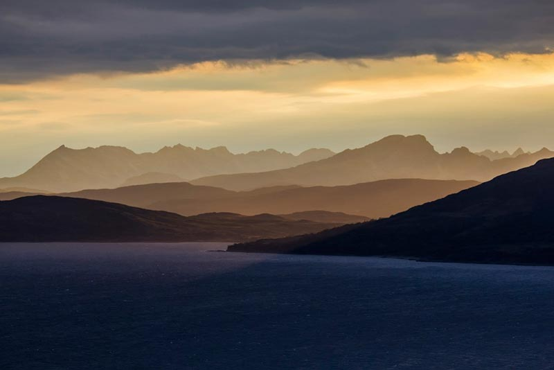 View of Skye from Glenelg looking across the Sound of Sleat