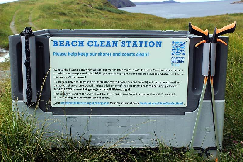 beach clean station Scottish Wildlife Trust