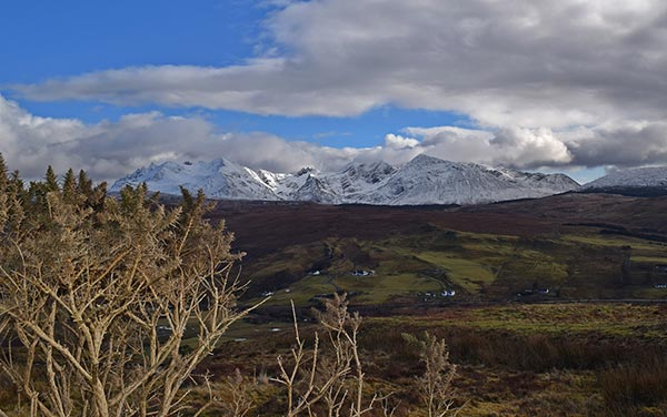 Things to do on the Isle of Skye:Struan to Sligachan road for 'That View' of The Cuillin