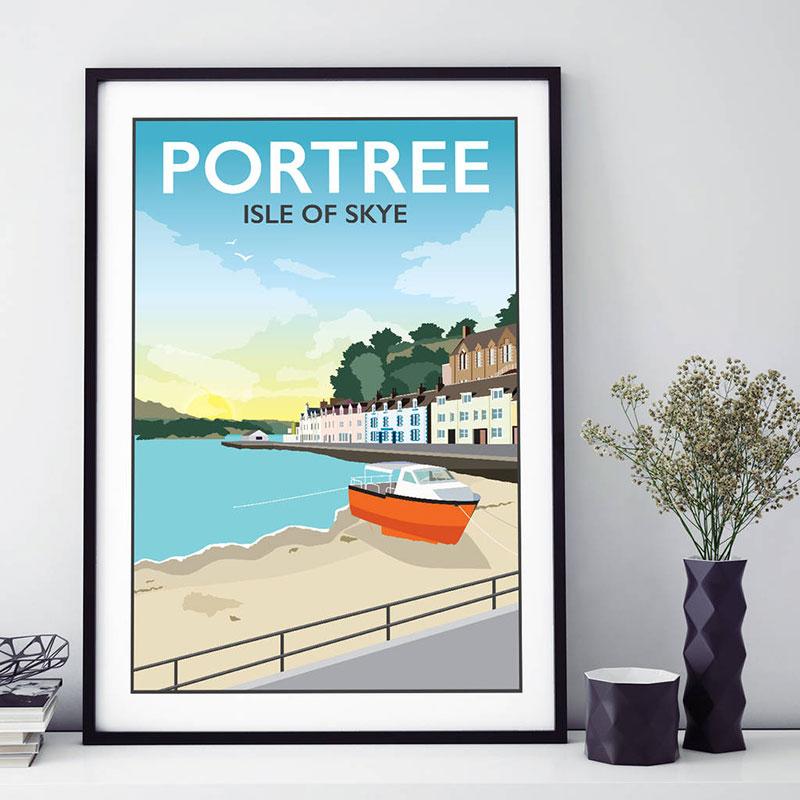 Portree, Isle Of Skye, Scotland Print by Tabitha Mary
