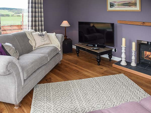 Tombae Boat of Garten holiday cottage living area view