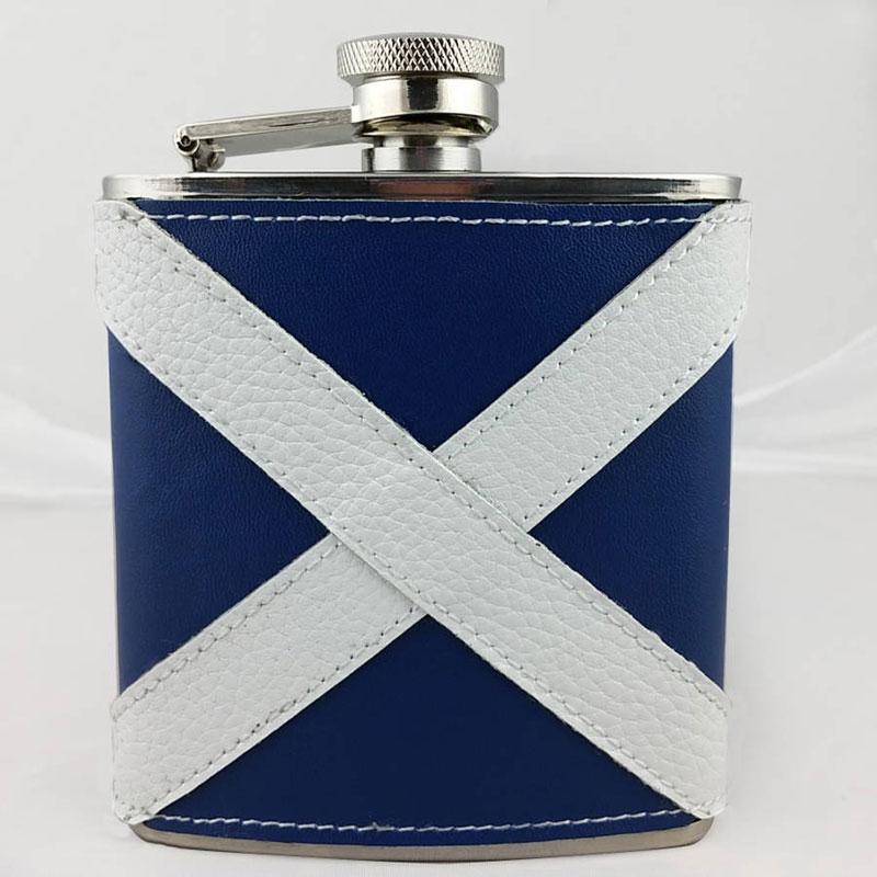 Scottish Saltire Hip Flask - Scottish themed Christmas presents